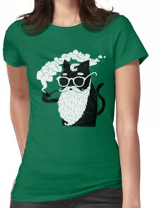 Whiskers And Pipe Womens Fitted T-Shirt