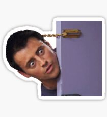 joey doorway surprise Sticker