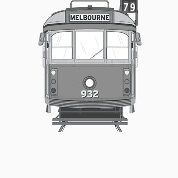 Melbourne Heritage Tram (B/W) by bombadeo