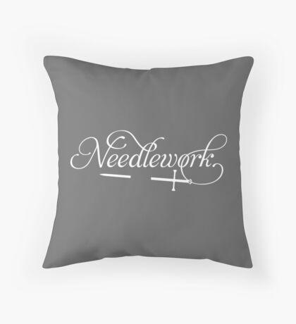 Needlework (white) Throw Pillow