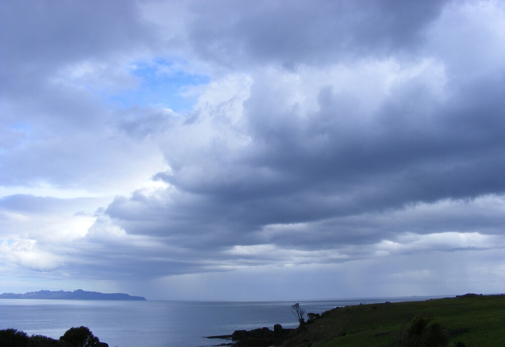 stormy clouds a-building  on east coast Tasmania by gaylene