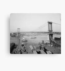 Lienzo Puente de Manhattan, 1909. Foto de época