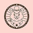 Cowboy Corgi - Pink Palette by Catherine Herold