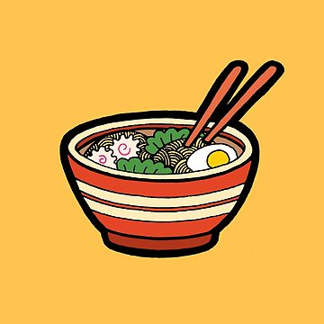 Ramen Bowl Pattern in Orange by evannave