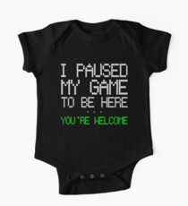 Paused my Game Baby Body Kurzarm