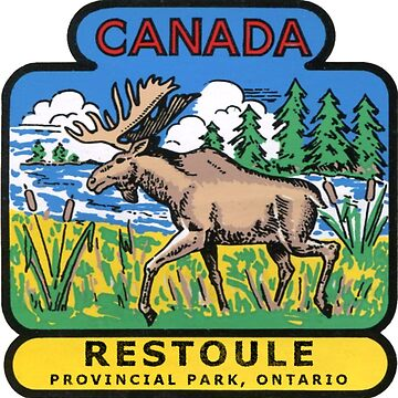 Restoule Provincial Park Ontario Vintage Travel Decal by hilda74