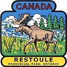 Restoule Provincial Park Ontario Vintage Travel Decal by hilda74
