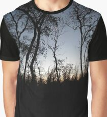 #tree #sunset #sky #trees #landscape #silhouette #winter #nature #sun #forest #sunrise #dusk #blue #morning #field #lake #fog #clouds #cloud #cold #night #evening #orange #mist #dark Graphic T-Shirt
