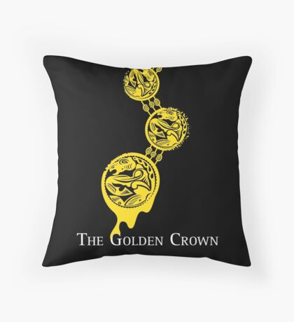 The Golden Crown Throw Pillow