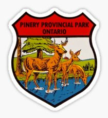 Pinery Provincial Park Ontario Vintage Travel Decal Sticker