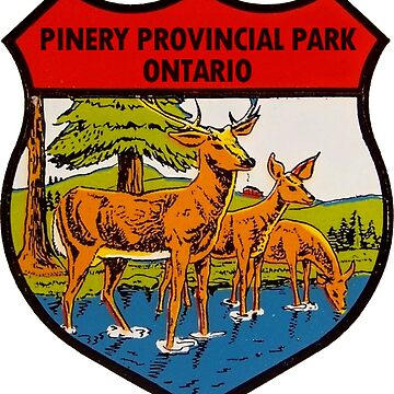 Pinery Provincial Park Ontario Vintage Travel Decal by hilda74