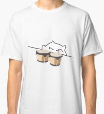 Camiseta clásica BONGO CAT CON BONGOS - ANIME DIVERTIDO MEME CAT