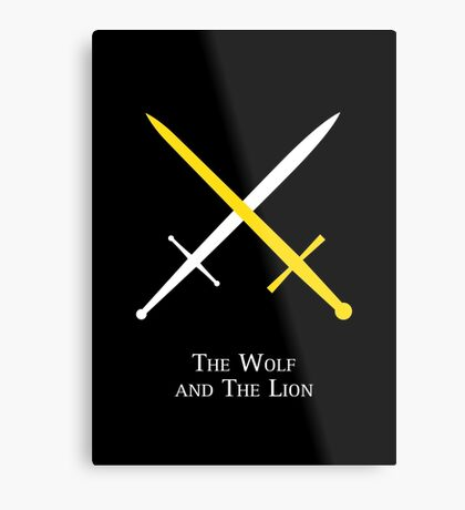 The Wolf and The Lion Metal Print