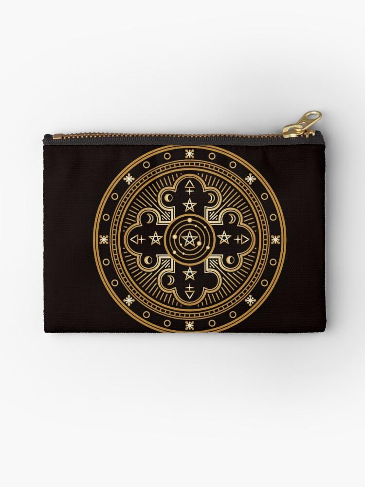'Freemason, Occult, Magic, Alchemy, Sacred Geometry, Pagan, and Illuminati  Mandalas Gifts and Apparel' Zipper Pouch by Robert Diebold