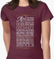 The Rains of Castamere Women's Fitted T-Shirt