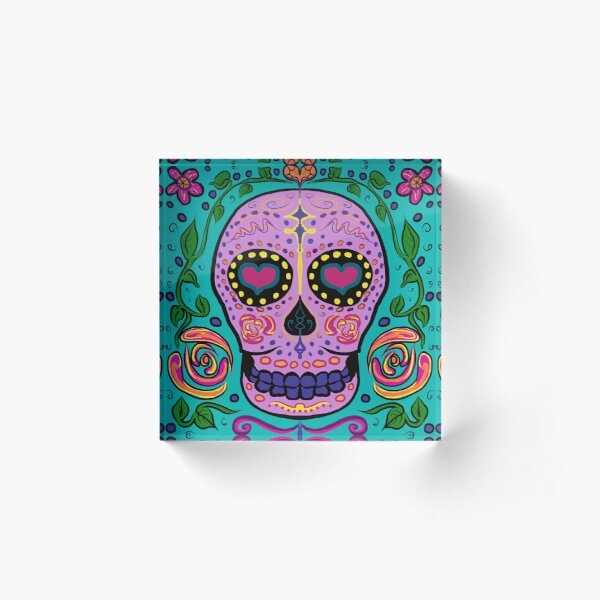 Day of Dead Acrylic Block