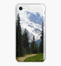 Mount Rainier Through the Trees iPhone Case/Skin
