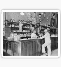 New Orleans Saloon, 1938. Vintage Photo Sticker