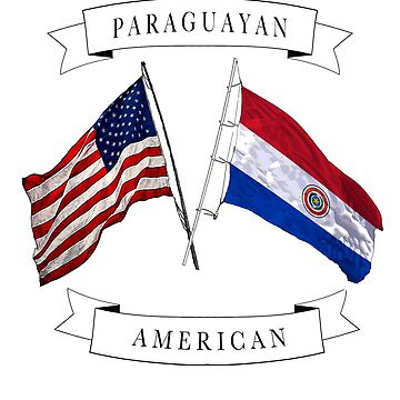 Paraguayan American ancestry flag design by jhussar