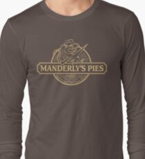 Manderly's Pies (in tan) Long Sleeve T-Shirt
