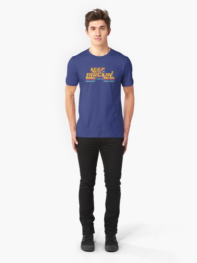 Alternate view of Keepin It Real Seventies 70s T-Shirt Cool Vintage Retro Slim Fit T-Shirt