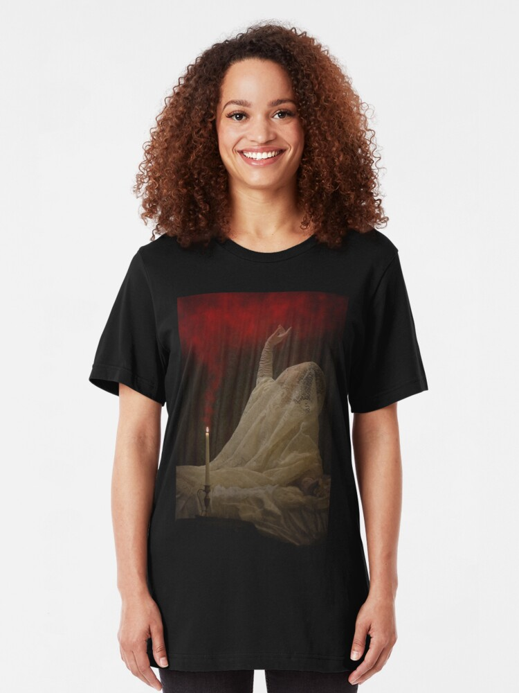 Alternate view of The Queen Lay Dying Of Her Own Will Slim Fit T-Shirt