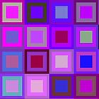 A touch of purple - a mosaic design by Agnes McGuinness