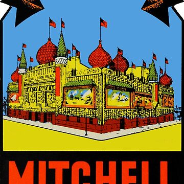 The Worlds Only Corn Palace Mitchell South Dakota Vintage Travel Decal by hilda74