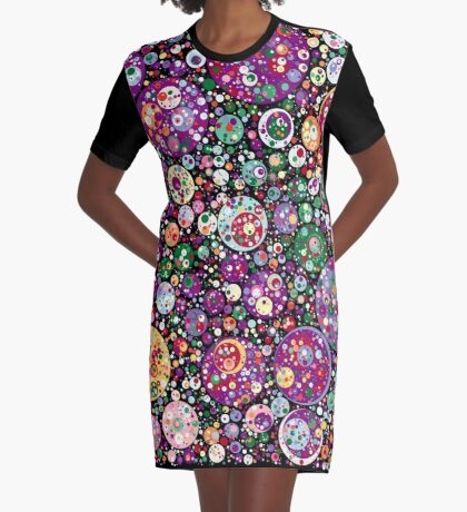Points on a Circle 016a Graphic T-Shirt Dress