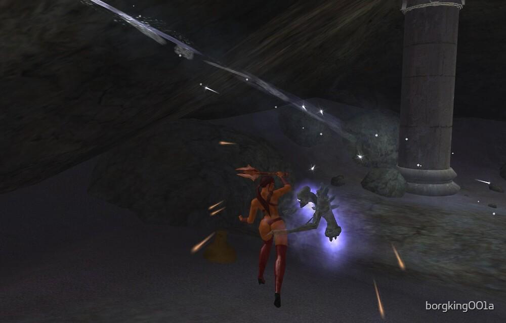 Lady Sheenah vs. The Nerva Spectral Daemon by borgking001a