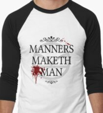 Manners Maketh Man Men's Baseball ¾ T-Shirt