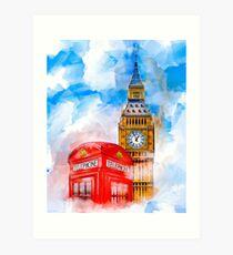 London Dreams - Big Ben & An Iconic Red Telephone Box Art Print