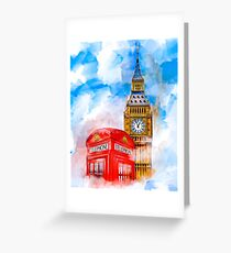 London Dreams - Big Ben & An Iconic Red Telephone Box Greeting Card