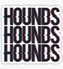 Hounds 3-d Sticker