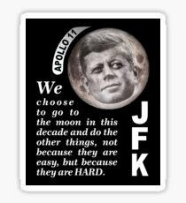 To the Moon JFK Quote Sticker