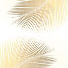 Palm leaf synchronicity - gold by Gale Switzer