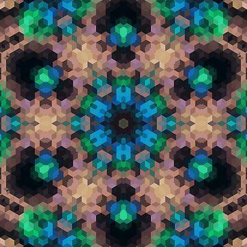 Multi-colored ornament, mosaic by fuzzyfox