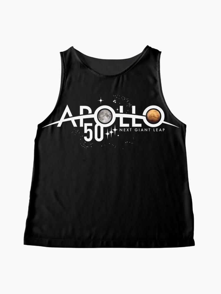 Alternative Ansicht von Apollo 50th Anniversary Logo - Nächster Riesensprung - Zuerst der Mond, nächster Mars! Ärmelloses Top