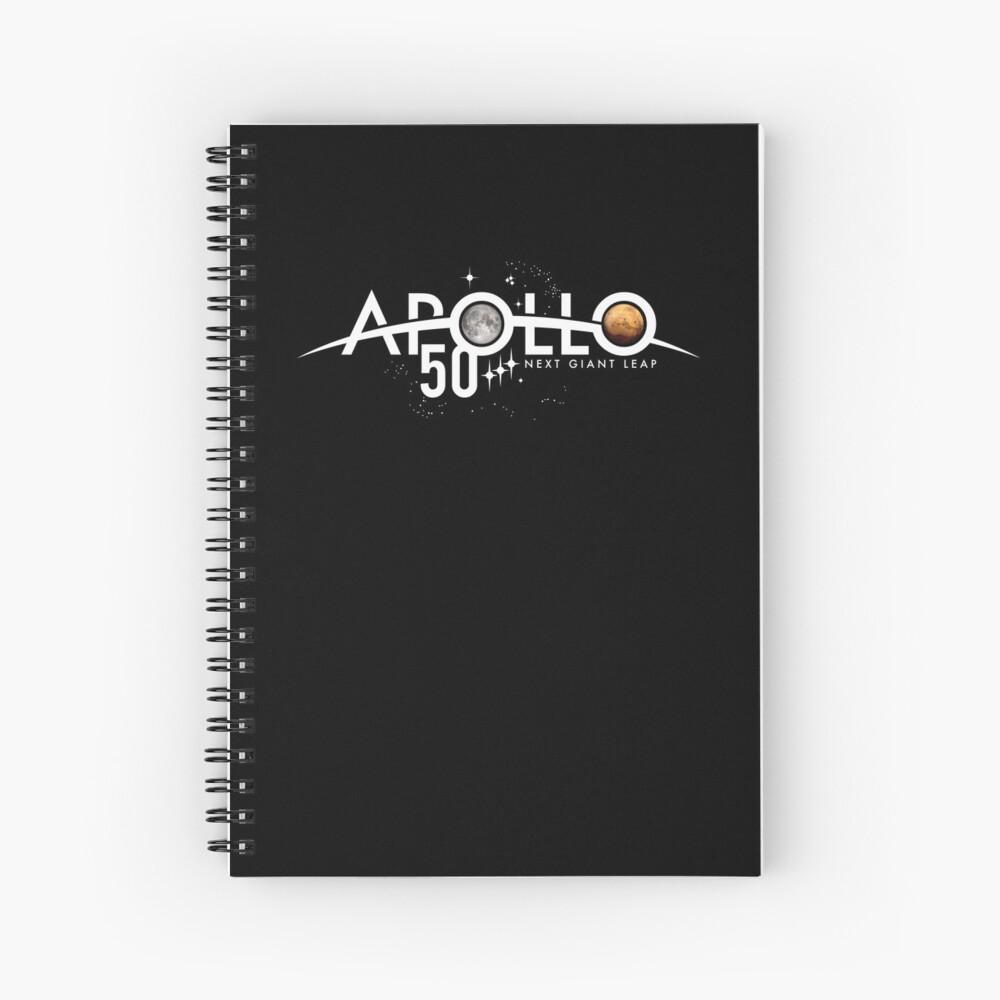 Apollo 50th Anniversary Logo - Nächster Riesensprung - Zuerst der Mond, nächster Mars! Spiralblock