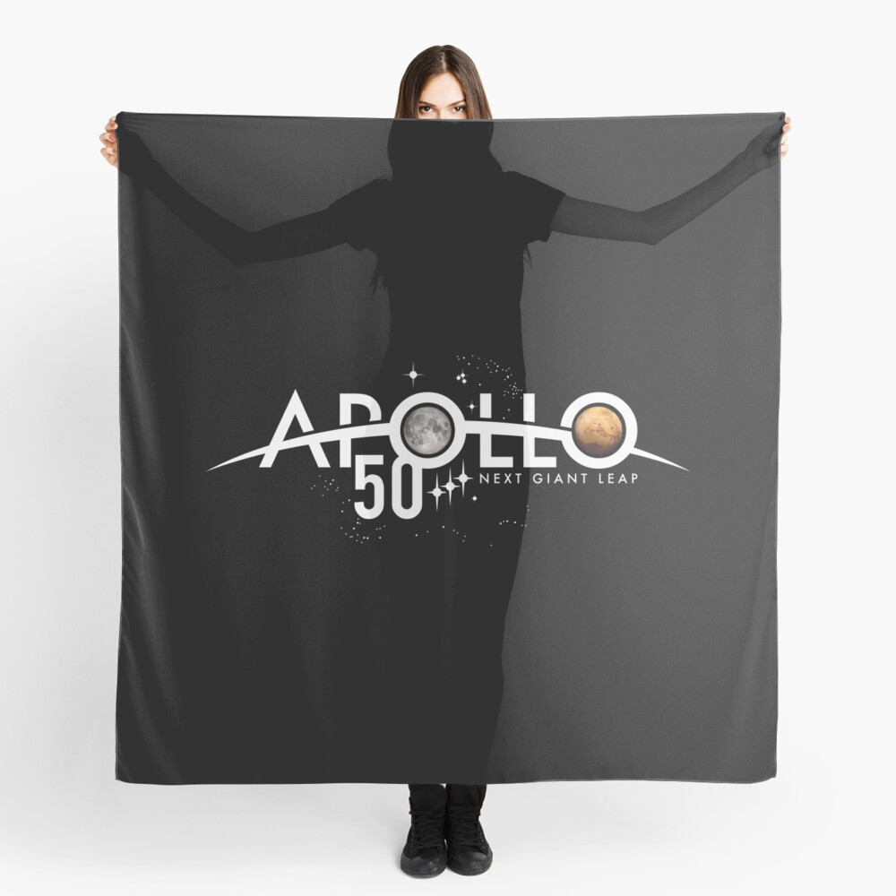 Apollo 50th Anniversary Logo - Nächster Riesensprung - Zuerst der Mond, nächster Mars! Tuch