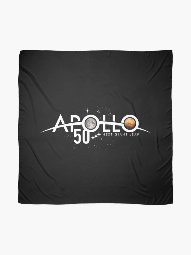Alternative Ansicht von Apollo 50th Anniversary Logo - Nächster Riesensprung - Zuerst der Mond, nächster Mars! Tuch