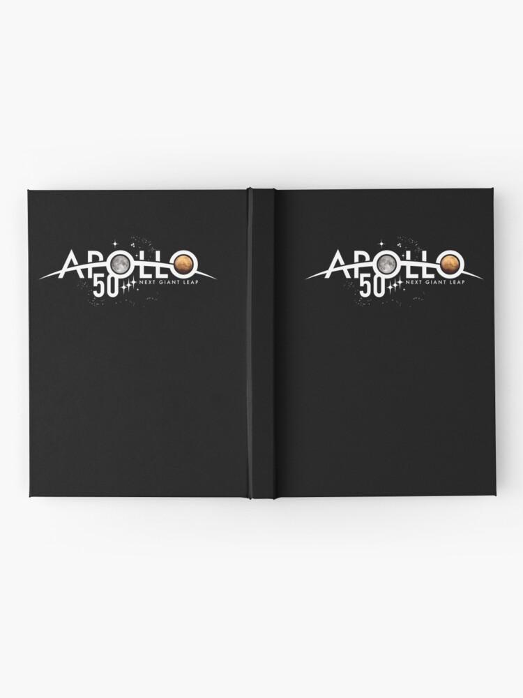 Alternative Ansicht von Apollo 50th Anniversary Logo - Nächster Riesensprung - Zuerst der Mond, nächster Mars! Notizbuch
