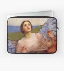 Beautiful Frightened Angel antique art Laptop Sleeve