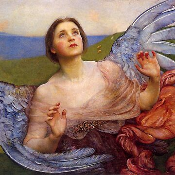The Sense of Sight, Beautiful Angel antique art by Glimmersmith