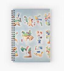 Twelve Glyphs Spiral Notebook