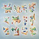 Twelve Glyphs by Dave Martsolf