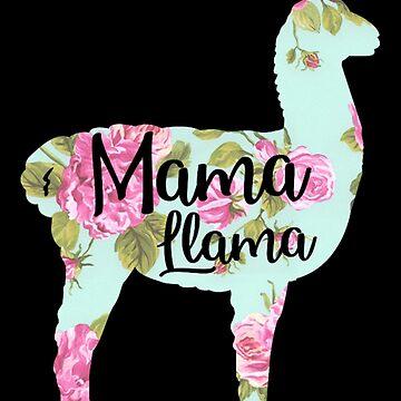 Mama Llama Floral by sonicdude242