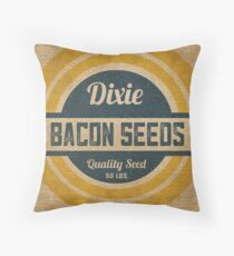 Bacon Seed Vintage Burlap Sack Throw Pillow