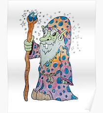 Wacky Elf Wizard Poster
