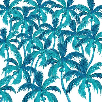 Coconut Palm Tree Jungle by MatsonArtDesign